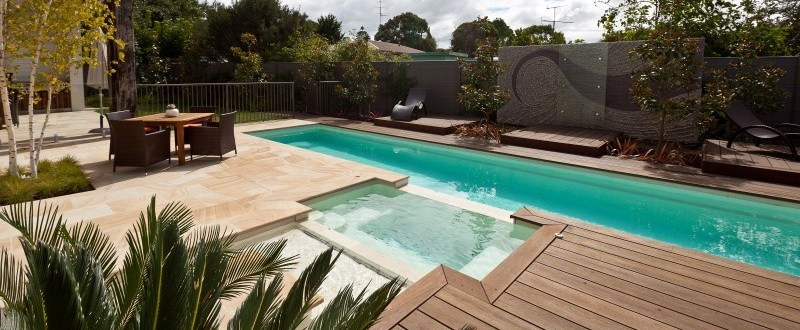 Donehues Leisure Fastlane 12 3 lap pool with a spa and sunpod 1