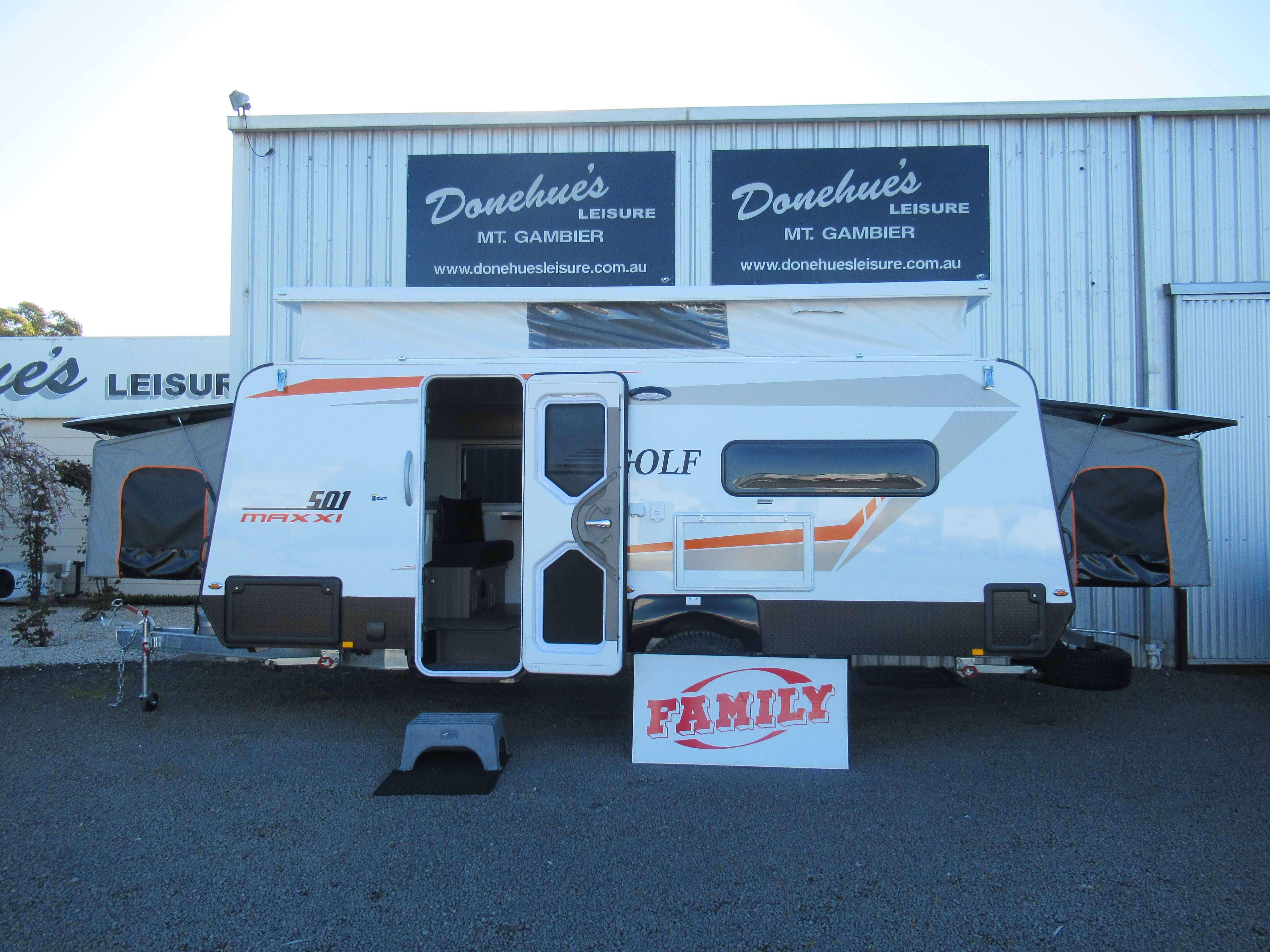 Donehues Leisure New Golf Maxxi 501 3 Family Bunk Poptop Caravan Mt Gambier 12358 19